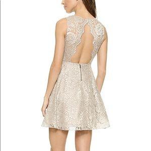 Alice & Olivia Natalie Lace Open Back Dress